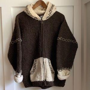 Bolivian Imports Handmade Wool Hoodie, XL